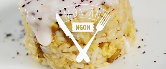 """Cơm """"Gà"""" Sốt Dừa Quế"""